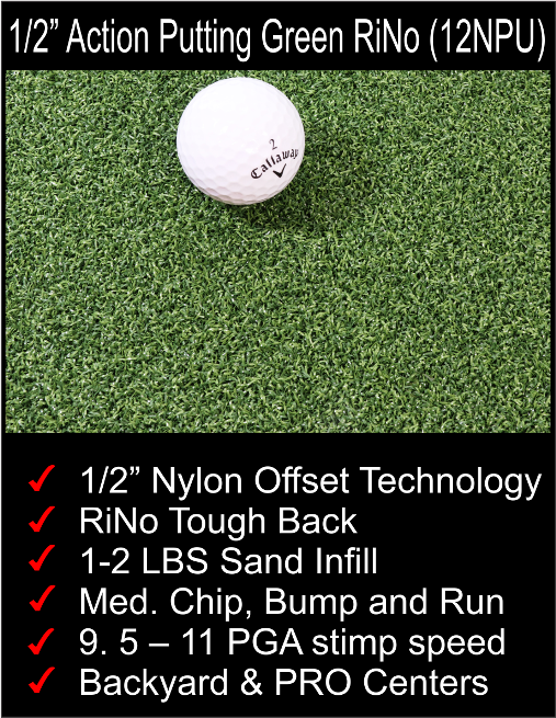 "1/2"" Nylon putting green"