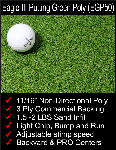 "11/16"" Poly putting greens"